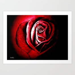 The Black Rose Red Art Print