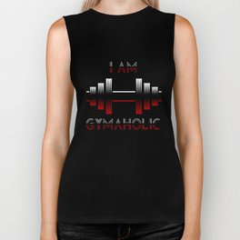 I am Gymaholic Biker Tank