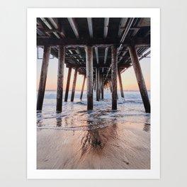 Under Sunset Pier Art Print