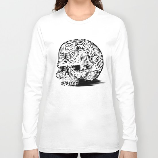 third-eyed skull Long Sleeve T-shirt