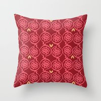 pomegranate Throw Pillows featuring pomegranate by ottomanbrim