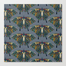 swallowtail butterfly indigo Canvas Print