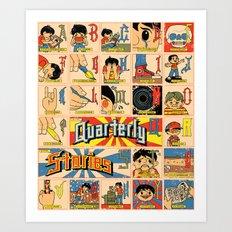 Odd Alphabet Chart Art Print