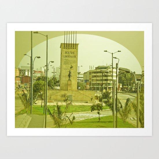 "COLOMBIA BOGOTA CITY ""THE HEROES"". Art Print"