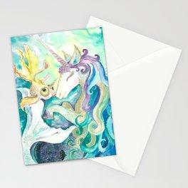 Kelpie unicorn and goldfish Stationery Cards