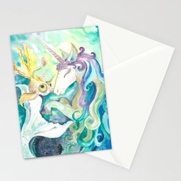 Kelpie unicorn and goldfish Stationery Cards