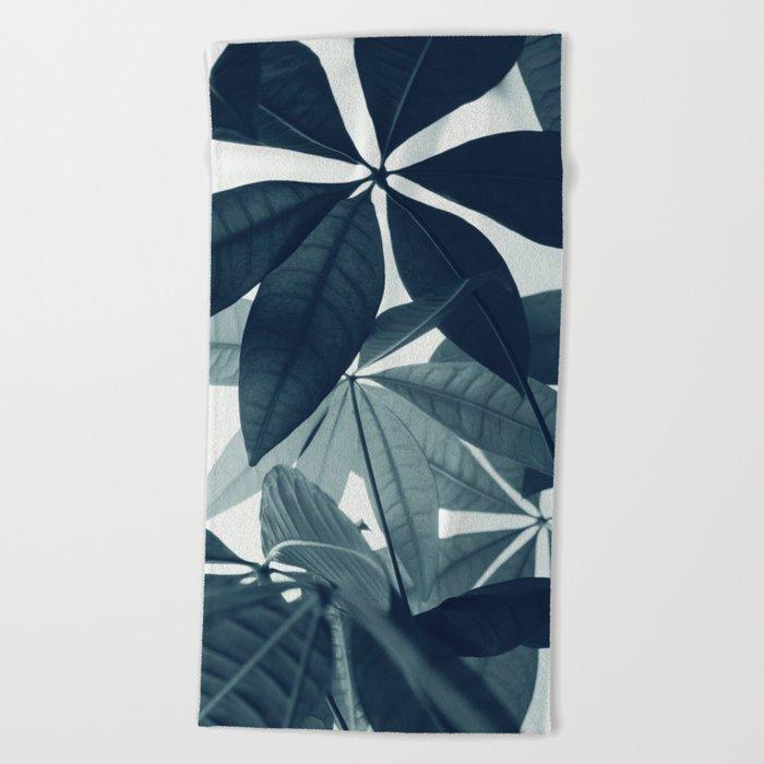 Pachira Aquatica 4 Foliage Decor Art Society6 Beach Towel By
