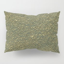 Gold jewelry metal foil Pillow Sham