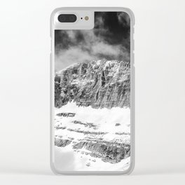 Throne of Zeus Black and White Abstract Landscape Fine Art print Clear iPhone Case