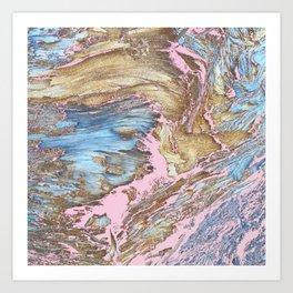 Woody Pink Art Print