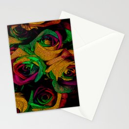 Funky Roses IV Stationery Cards