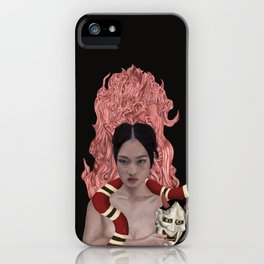 In the Death of the Grip of the Mask iPhone Case