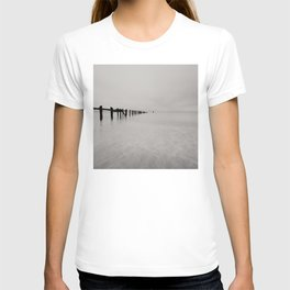 black and white untitled ocean T-shirt