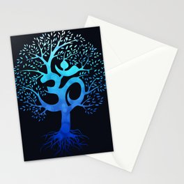 Tree Of Life with Om Symbol Stationery Cards