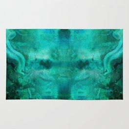 """""""Abstract aquamarine, deep waves"""" Rug"""