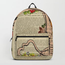 uterus, female, reproductive, system s Backpack