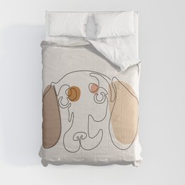 Modern One line Abstract Dachshund Comforters