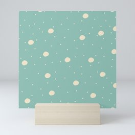 Seamless Pattern with big bubbles and dots Mini Art Print
