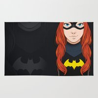 batgirl Area & Throw Rugs featuring Batgirl by SoLaNgE-scf