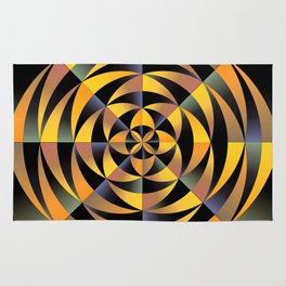 Tigerlike geometric design Rug