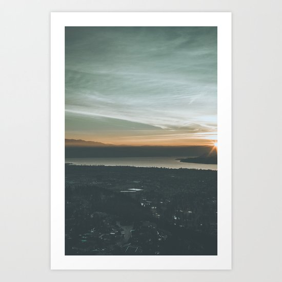 Dilworth Mtn. Lookout Art Print