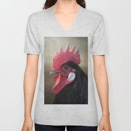 Black Rooster Unisex V-Neck