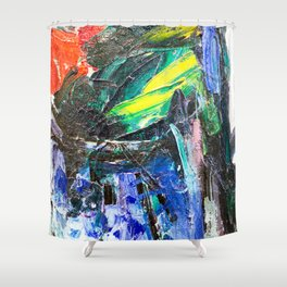 Abstract Oil Paint on Canvas Rothko Shower Curtain