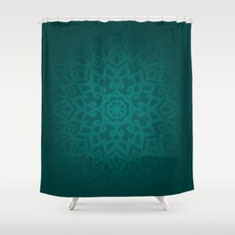 Abstract Mandala Flower Decoration 6 - Jade Color Shower Curtain