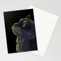 Cat and the light  Stationery Cards