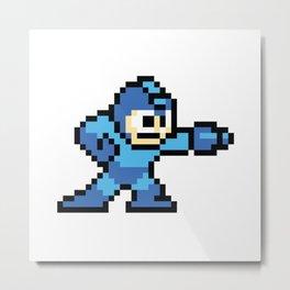 Pixelated Mega Man Metal Print
