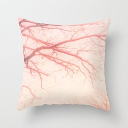 abstract rose tree Throw Pillow