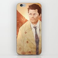 castiel iPhone & iPod Skins featuring Castiel by Vaahlkult
