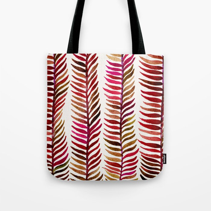 Red Stems Tote Bag