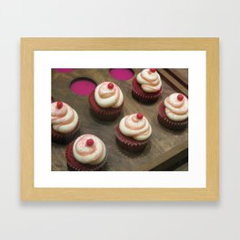 Canadian Red Velvet Cupcakes Framed Art Print