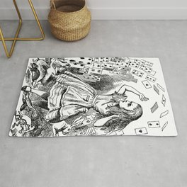 ALICE ATTACKED BY CARDS - JOHN TENNIEL Rug