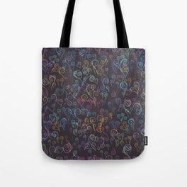 Pixelated Spirals Tote Bag