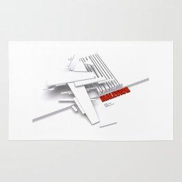 Malevich 3D [B&W] Rug