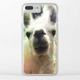Blanche nose kiss Clear iPhone Case