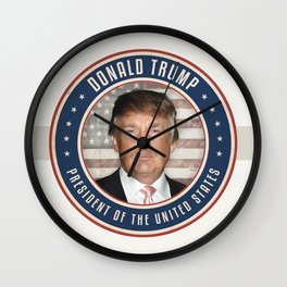 Vote Donald Trump President Wall Clock