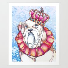 The Bulldog Prince Art Print