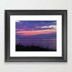 Purple Evening Clouds at Sea Framed Art Print