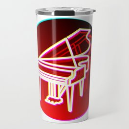 Grand Piano Retro 70s 80s Clavier Pianist Gift Travel Mug