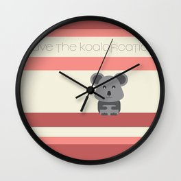 Koalafication Wall Clock