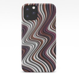 COIF abstract gradient waves of brown and white iPhone Case