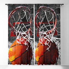Basketball art print swoosh 101 Blackout Curtain