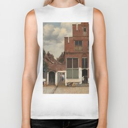 Johannes Vermeer - The little street Biker Tank