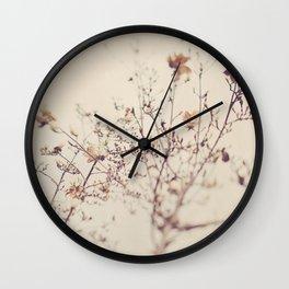 Magnolia tree. Winter Wall Clock