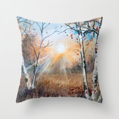 untitled landscape Throw Pillow