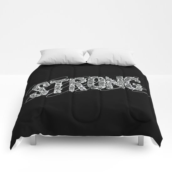 STRONG (White type) Comforters