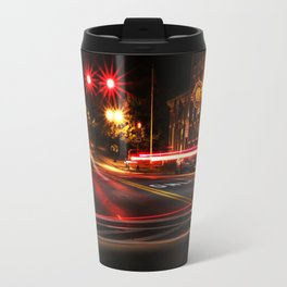 Red Twirls Travel Mug
